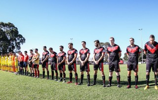 Grads Red ceremonial start FFA Cup