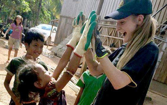 Amielia Ebbs in Cambodia