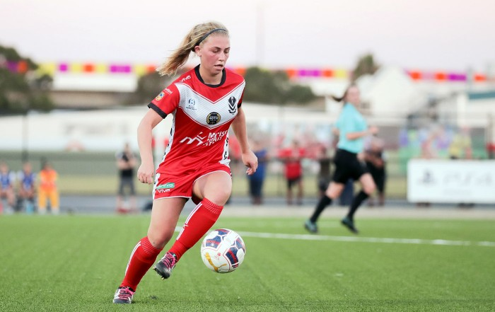 Former Leicester City Women's Premier League player Fiona Worts in action for Adelaide Uni