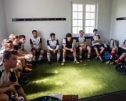 Uni White team talk