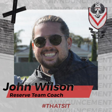 John Wilson - AUSC White reserves coach