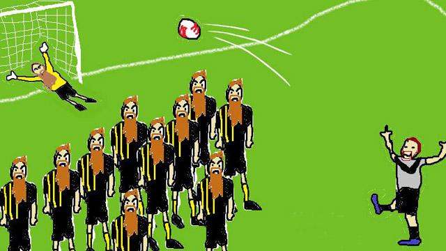 Dooley's free kick v Elizabeth Vale Cup Round 2