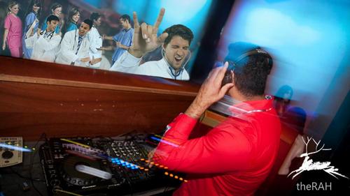 DJ Farooqi plays at the Royal Adelaide Hospital