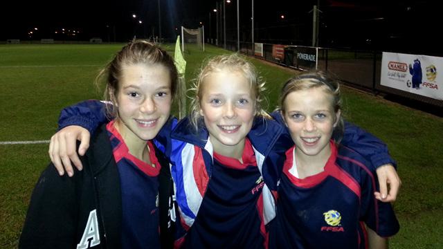 Lilly, Hannah, Harriet Under 13 State team 2013