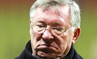 Sir Alex Ferguson sad face