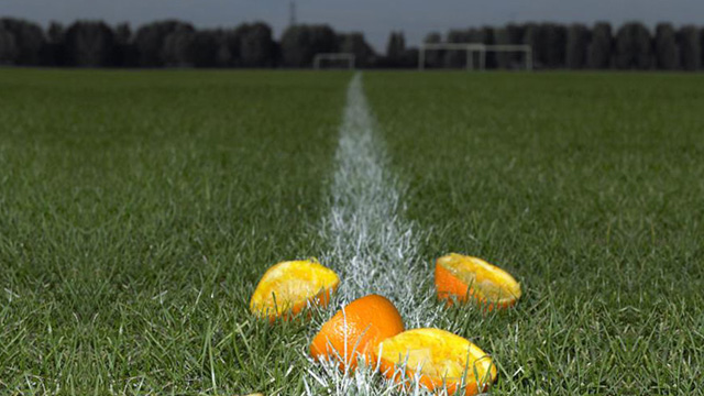 oranges on pitch photo