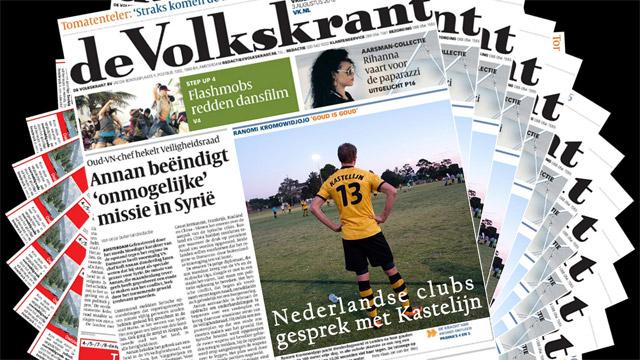 transfer news image dutch newspaper